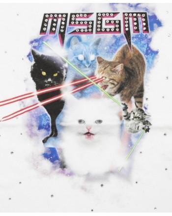 MSGM Baby- T-Shirt Stampa Gatti - Bianco
