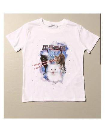 BURBERRY - T-shirt in cotone con motivo logo - Nero