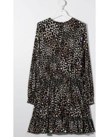 BURBERRY - Camicia oversize in cotone con motivo  check - Beige