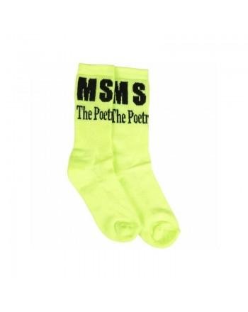 MSGM KIDS - Calze in Spugna con Logo - Giallo