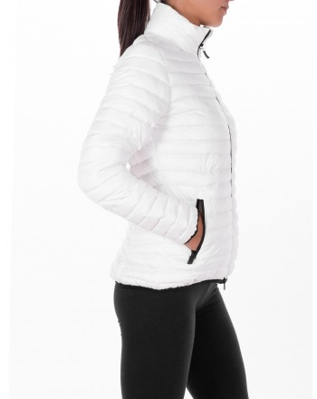 ROSSIGNOL - Short Down Jacket with side Logo - White