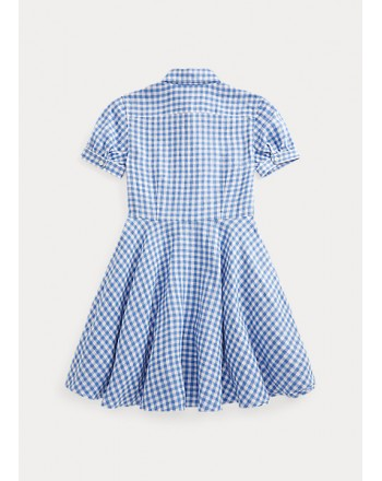 POLO KIDS - Checkered Cotton dress