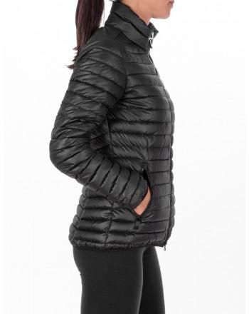 ROSSIGNOL - Short Down Jacket with side Logo - Black