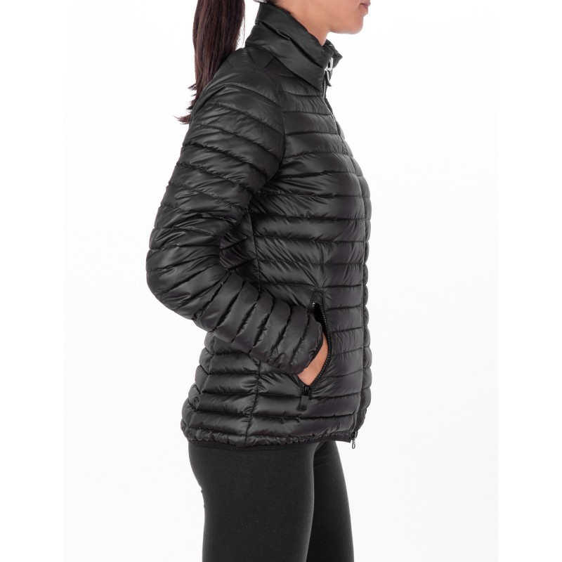 ROSSIGNOL - Short Down Jacket with side Logo - Black