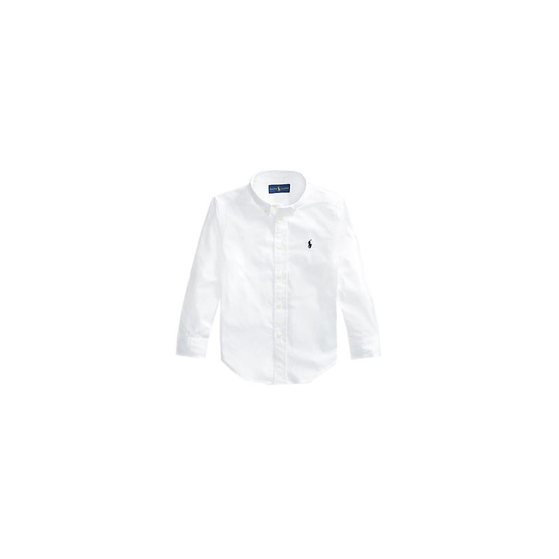 POLO KIDS - Camicia basic cotone pinpoint
