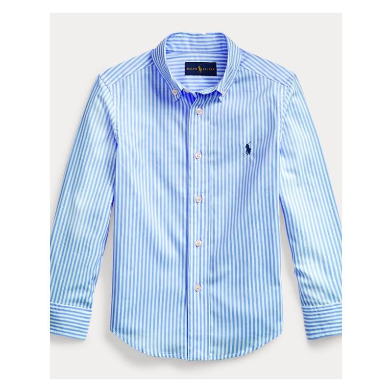 POLO KIDS - Camicia basic cotone rigato