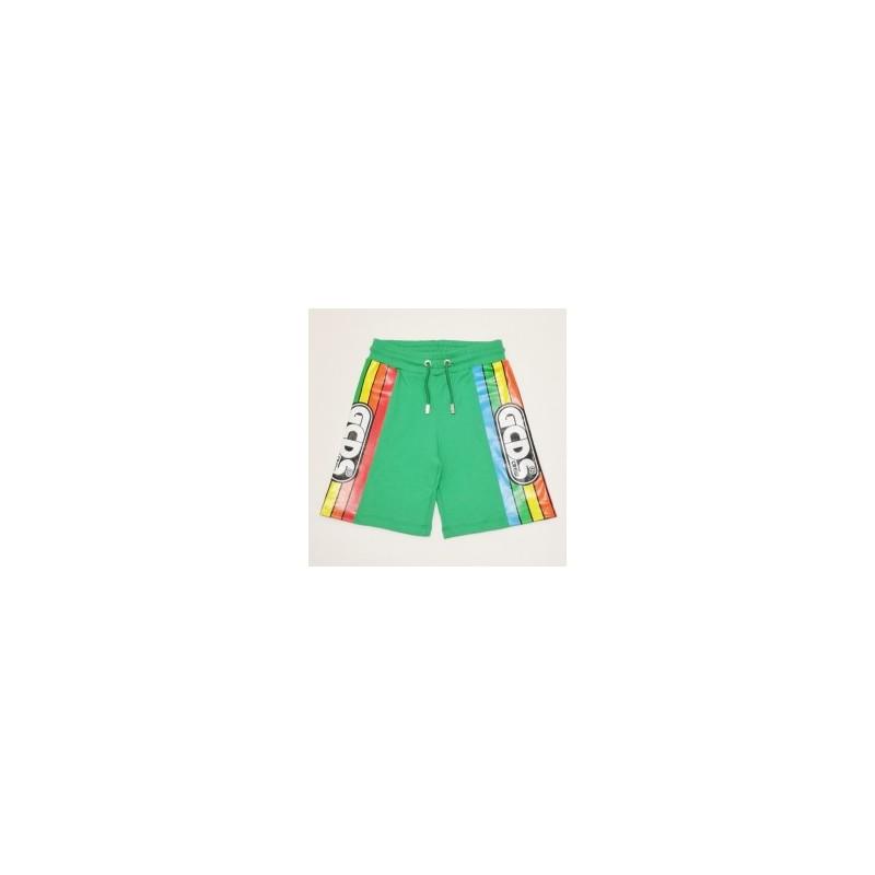 GCDS Mini - BERMUDA CON STAMPA - Verde