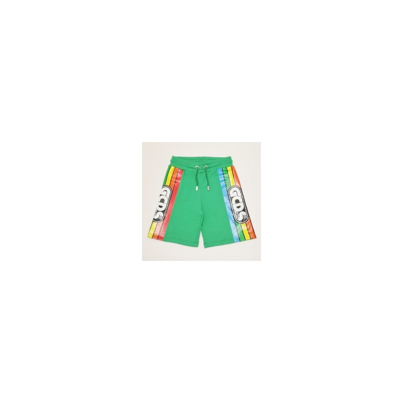 GCDS Mini - BERMUDA SHORT WHIT PRINT - Green