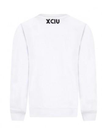 GCDS Mini- Embroidered Logo Fleece - White