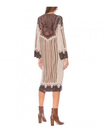 ETRO - Wool and Cashmere Midi Dress DOLE - Multicolour