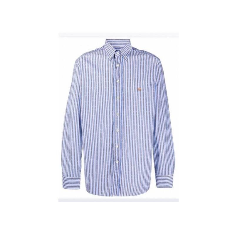 ETRO - Botton Down Shirt - WHITE/LIGHTBLUE/GREY