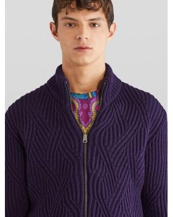 ETRO - Wool zipper jacket - BLUE