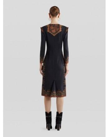 ETRO - Wool Tunic Dress BALUCHI - Black/Pattern