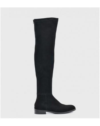 GUGLIELMO ROTTA - Suede high boots - BLACK