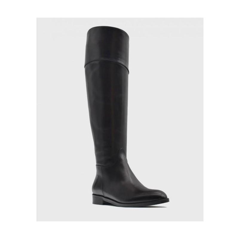 GUGLIELMO ROTTA - Leather Boots - EBONY