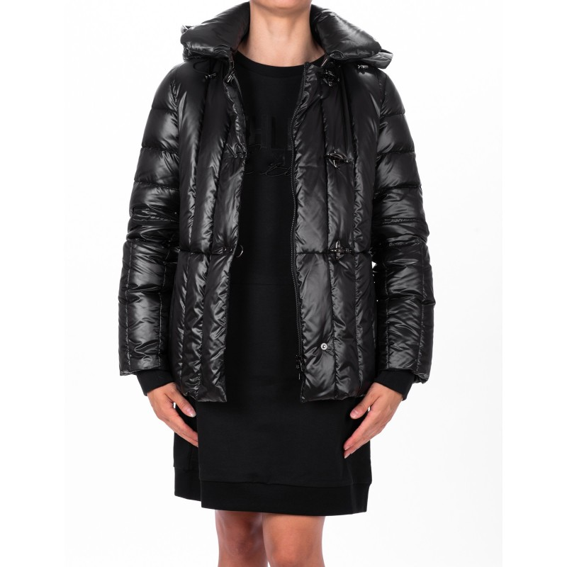 FAY - Medium Glossy Down Jacket - Black
