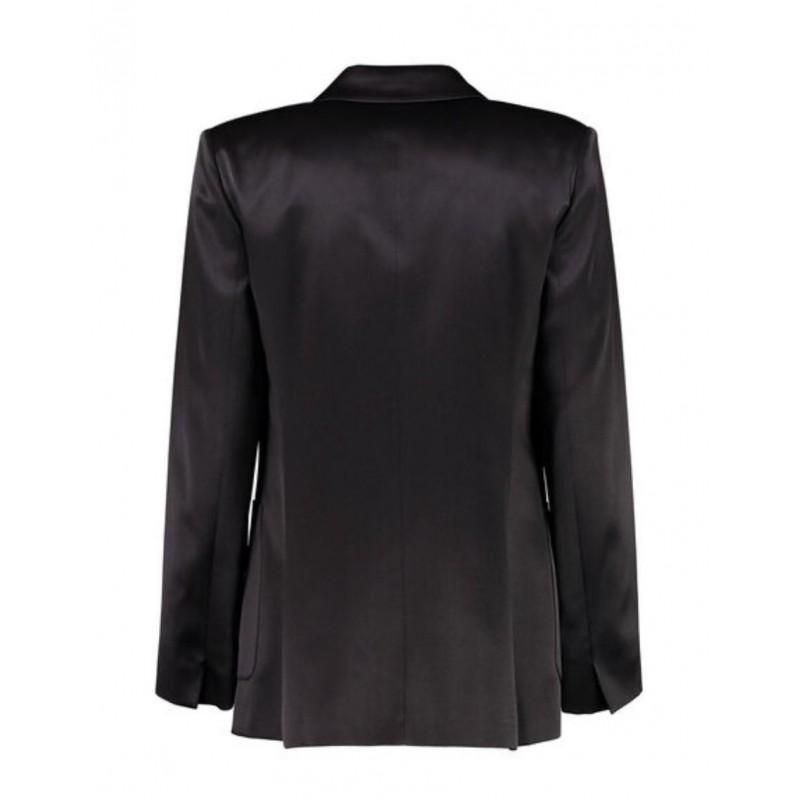 MAX MARA - TGLAUCO Silk Blazer - Black