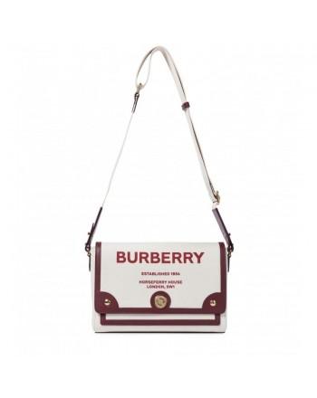 BURBERRY - Note canvas shoulder bag - NATURAL