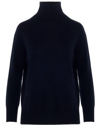 S MAX MARA - Turtleneck Cashmere Knit GNOMI  - Dark Blue