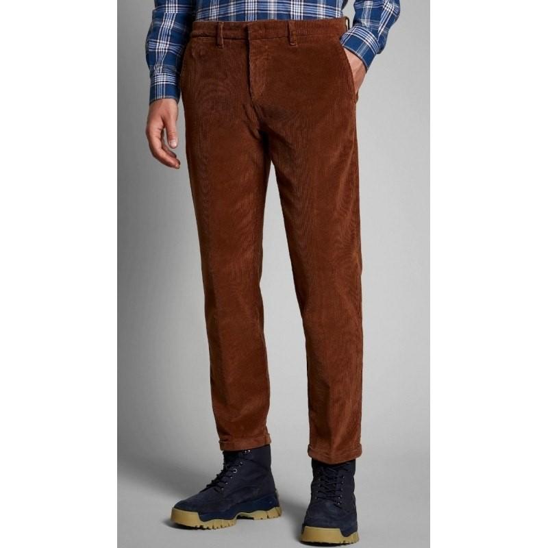FAY -  Pantalone in Velluto - Moro