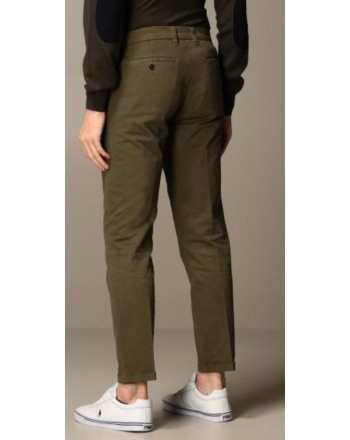 FAY - Stretch Gabardine Trousers - Military