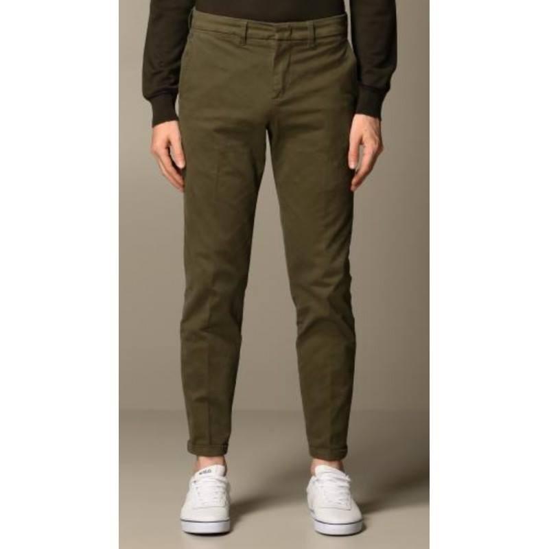 FAY - Pantalone in Gabardine Stretch - Militare