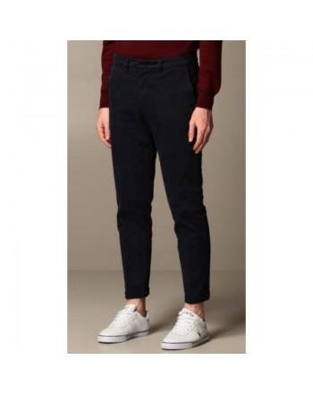 FAY - Pantalone in Gabardine Stretch - Blu