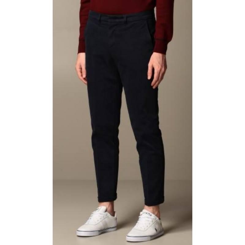 FAY - Stretch Gabardine Trousers - Blue