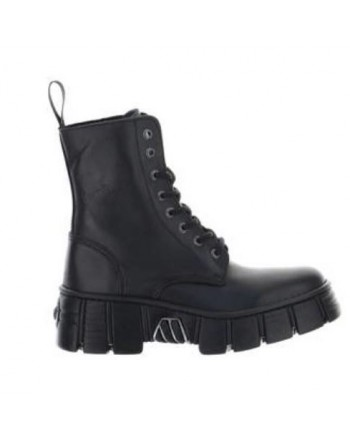 NEW ROCK -  Leather Boots - CRUST NEGRO