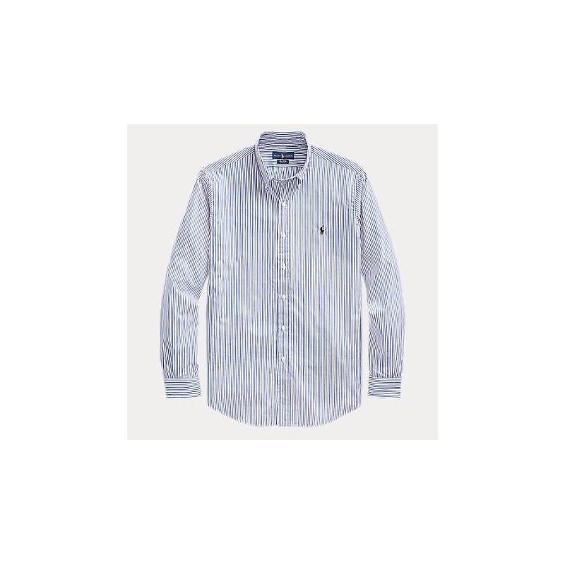 POLO RALPH LAUREN - Camicia in Popeline Slim Fit  - Blu/Bianco