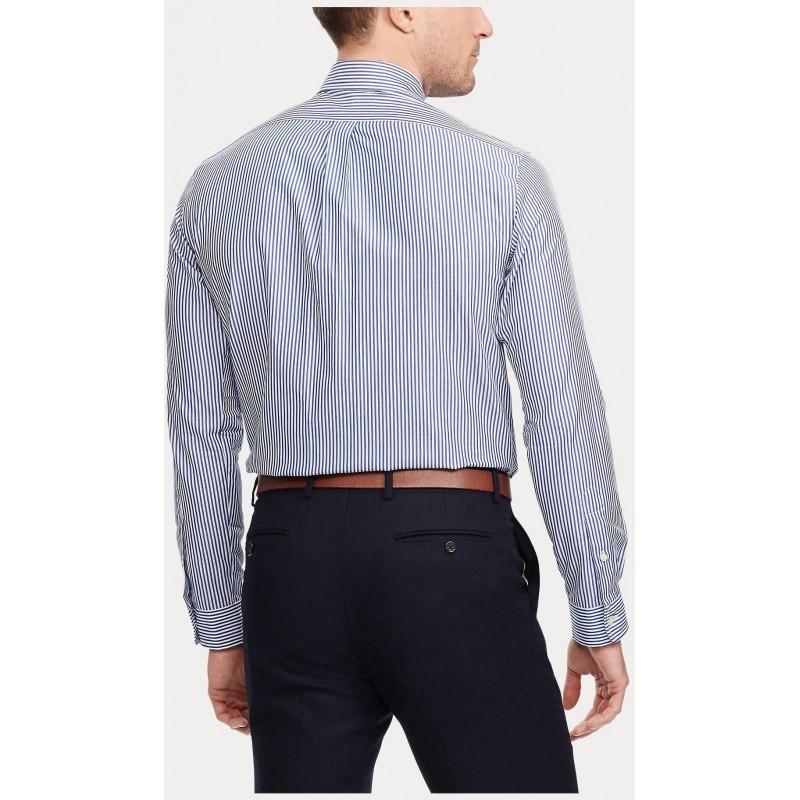POLO RALPH LAUREN -  Popeline Slim Fit Shirt - Blue/White