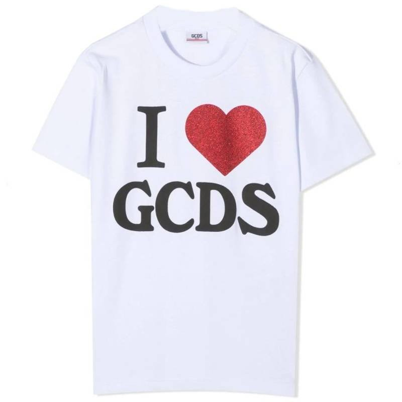 GCDS Mini - T-Shirt Oversize - Bianco