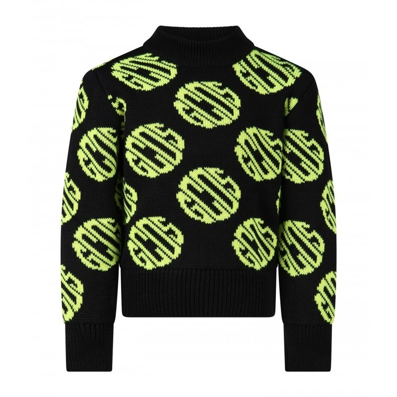 GCDS MINI - Logoed Knit - BLACK