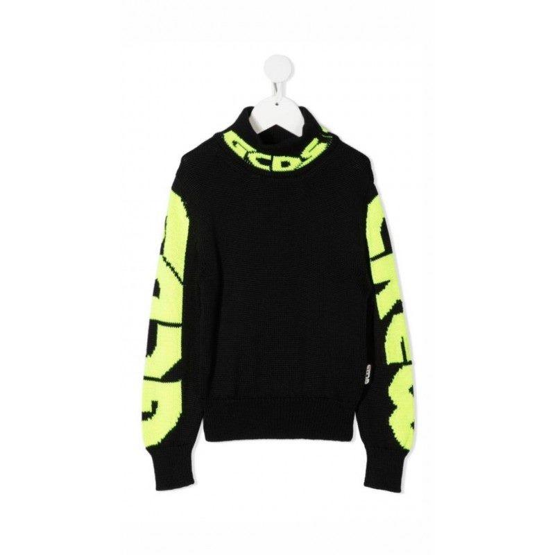 GCDS Mini - Sleeve logo jumper - BLACK
