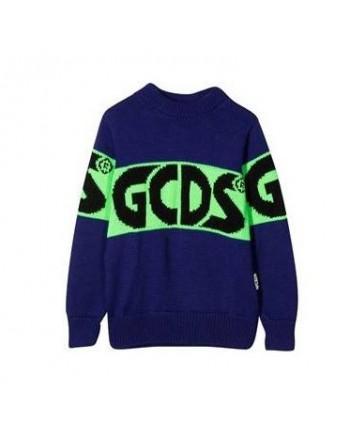 GCDS MINI - Colour Block Knit - Purple