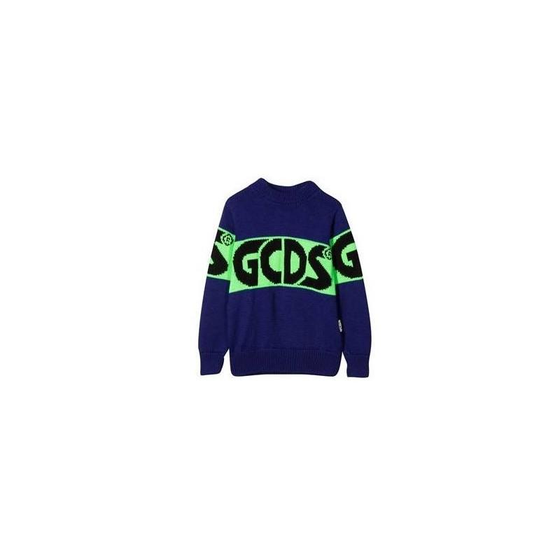 GCDS MINI - Maglione con Design Color Block - Purple