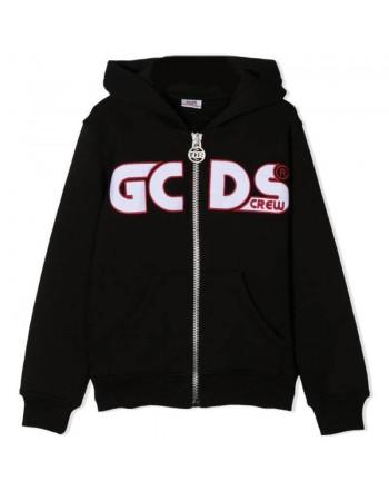 GCDS Mini - Zipper Fleece with Logo - Black