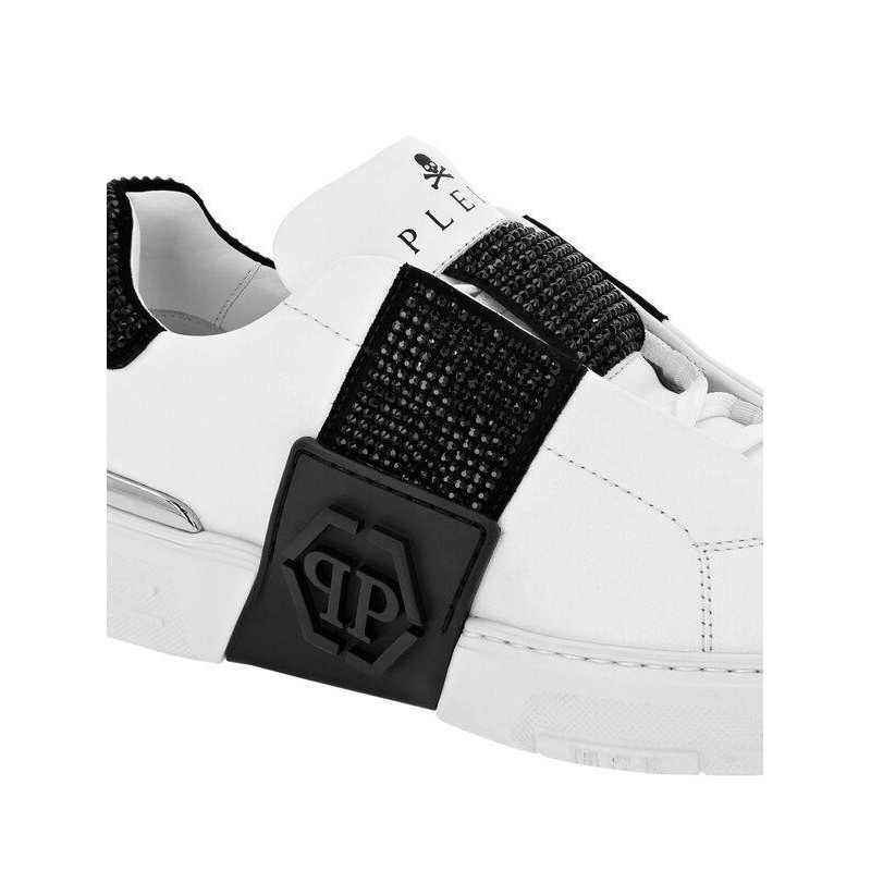 PHILIPP PLEIN - Sneakers PHANTOM KICKS LO-TOP - Bianco/Nero