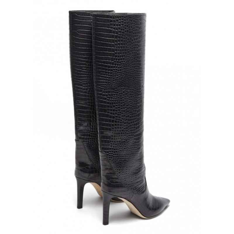JIMMY CHOO - MAVIS 85 Boots - Black