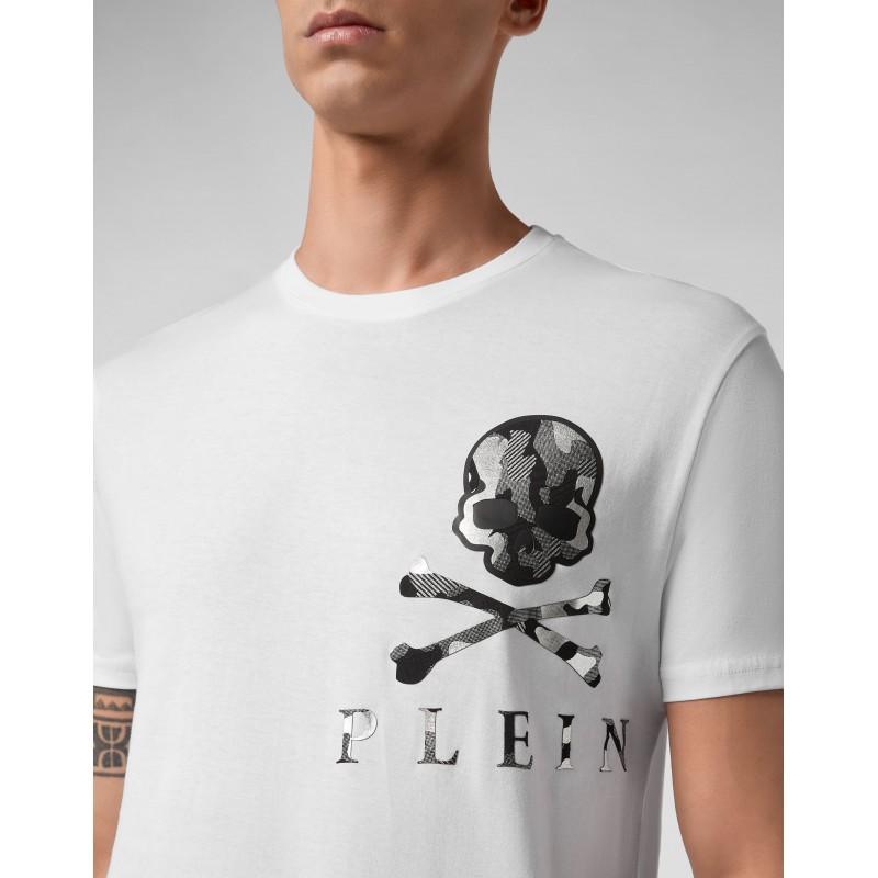 PHILIPP PLEIN - Camouflage Logo T-Shirt - White