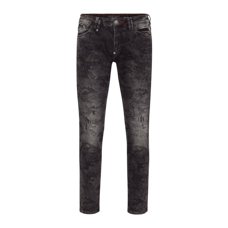 PHILIPP PLEIN- Slim Fit Jeans ISTITUTIONAL - Gorilla