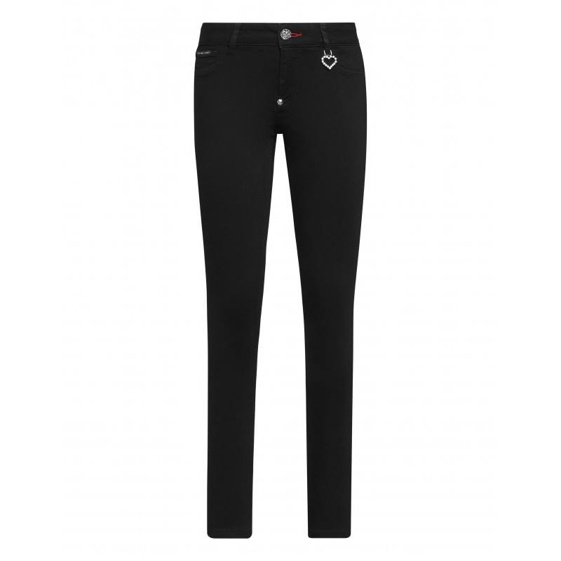 PHILIPP PLEIN - Pantalone Jegging 5 Tasche - Nero