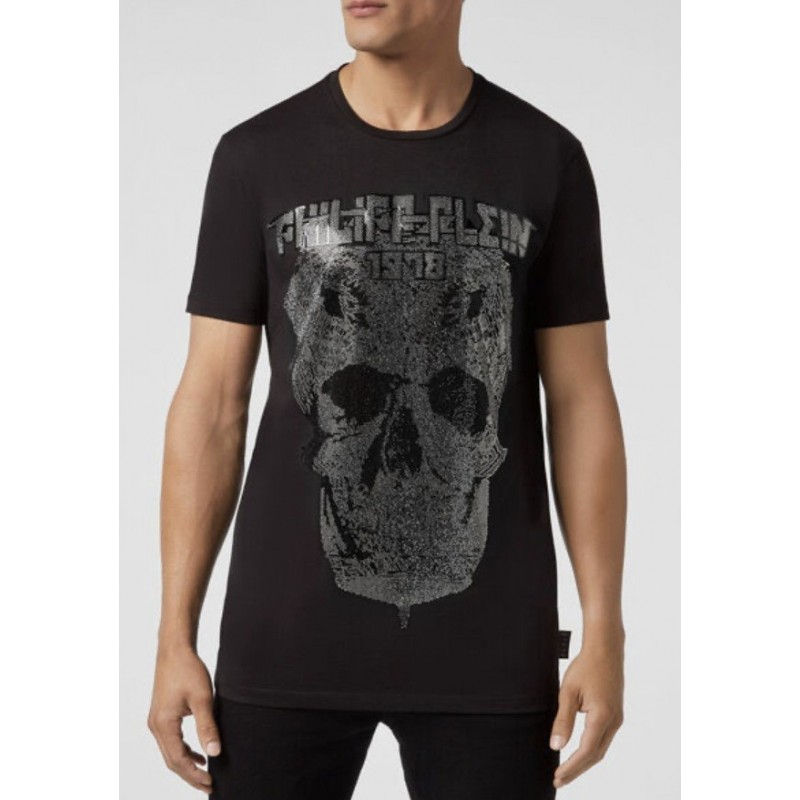 PHILIPP PLEIN - SKULL DIAMOND T-Shirt - Black