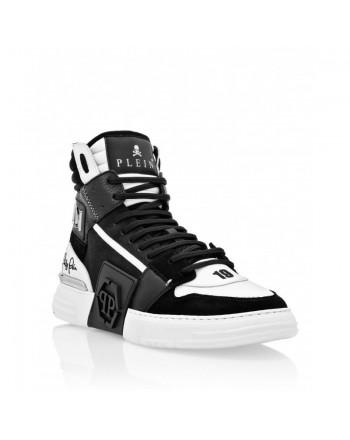 PHILIPP PLEIN - Sneakers PHANTOM KICKS HI-TOP MIXED - Nero/Bianco
