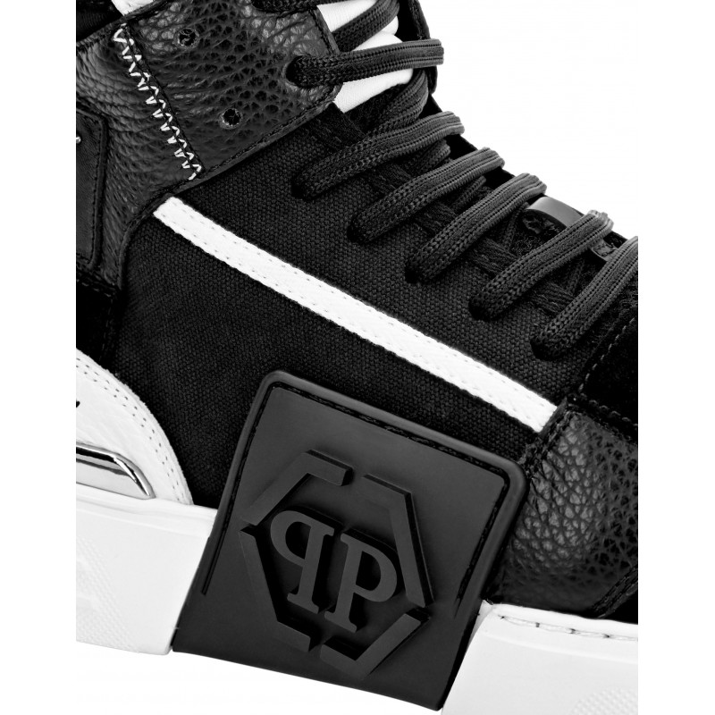 PHILIPP PLEIN - PHANTOM KICKS HI-TOP MIXED Sneakers - Black/white