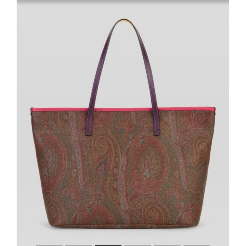 ETRO - PAISLEY shoppinh with colored details - Multicolor