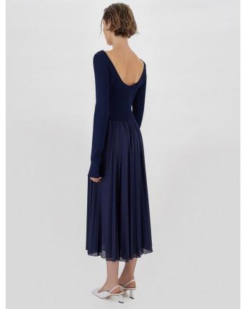SPORTMAX - FALENA Knit  Dress - Night Blue