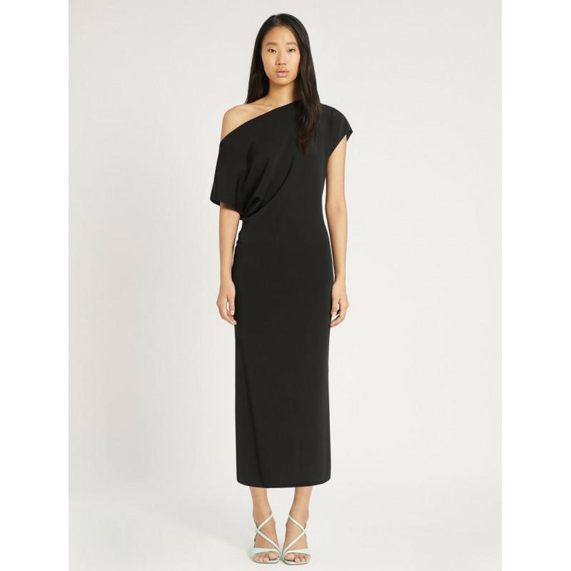 SPORTMAX - CECILIA Interlock Viscose Dress - Black