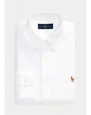 POLO RALPH LAUREN  -   Camicia Oxford - Slim Fit - Bianco -