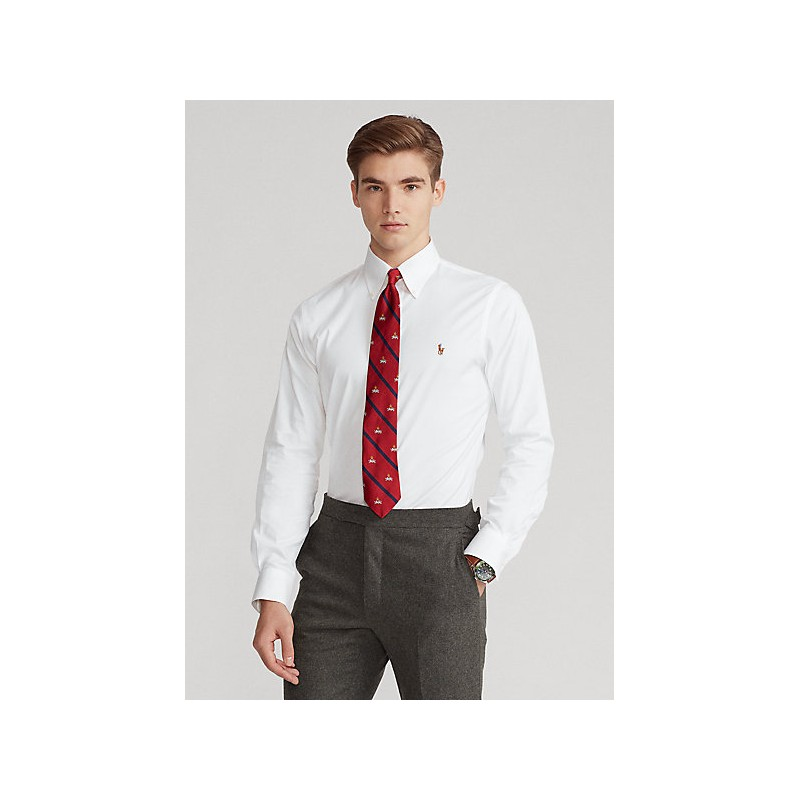 POLO RALPH LAUREN  - Shirt Oxford anti-grinze Slim-Fit - Bianco